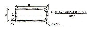 công thức tính trọng lượng thép hộp chữ d