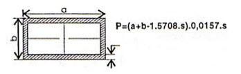 công thức tính trọng lượng sắt hộp chữ nhật