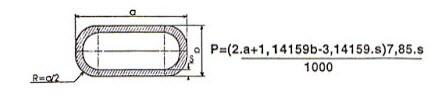 công thức tính trọng lượng sắt hộp oval