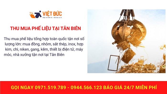 Thu mua phế liệu tại Tân Biên
